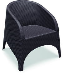 Compamia Aruba Resin Wickerlook Chair Brown ISP804-BR - YourBarStoolStore + Chairs, Tables and Outdoor  - 1
