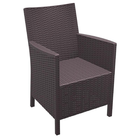 Compamia California Resin Wickerlook Chair Brown ISP806-BR - RestaurantFurniturePlus + Chairs, Tables and Outdoor - 1