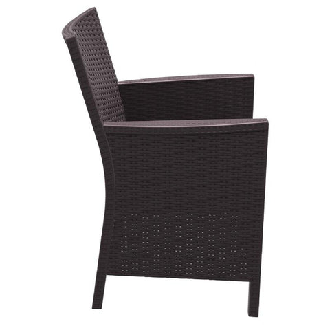 Compamia California Resin Wickerlook Chair Brown ISP806-BR - RestaurantFurniturePlus + Chairs, Tables and Outdoor - 3