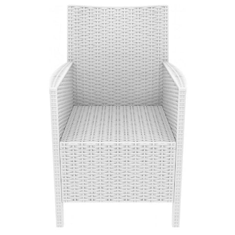Compamia California Resin Wickerlook Chair White ISP806-WH - RestaurantFurniturePlus + Chairs, Tables and Outdoor - 2