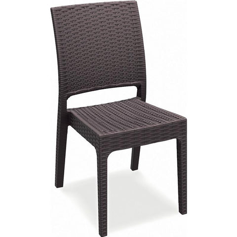 Compamia Florida Resin Wickerlook Dining Chair Brown ISP816-BR - RestaurantFurniturePlus + Chairs, Tables and Outdoor - 1
