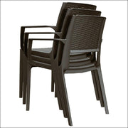 Compamia Capri Resin Dining Arm Chair Brown ISP820-BR - YourBarStoolStore + Chairs, Tables and Outdoor  - 6