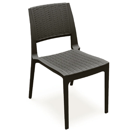 Compamia Verona Resin Wickerlook Dining Chair Brown ISP830-BR - RestaurantFurniturePlus + Chairs, Tables and Outdoor - 1