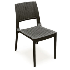 Compamia Verona Resin Wickerlook Dining Chair Brown ISP830-BR - YourBarStoolStore + Chairs, Tables and Outdoor  - 1