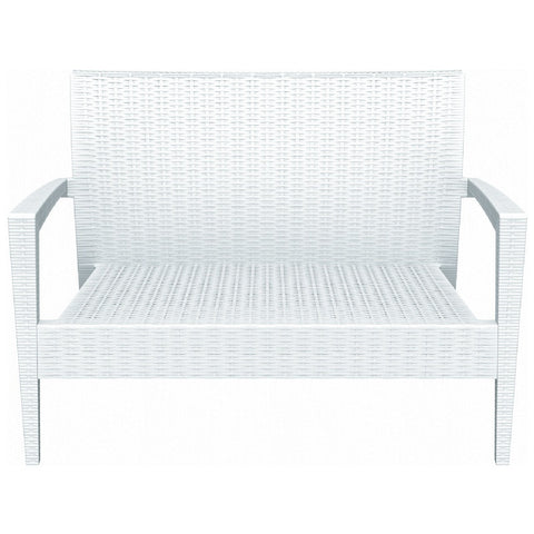 Compamia Miami Resin Loveseat White ISP845-WH - RestaurantFurniturePlus + Chairs, Tables and Outdoor - 2