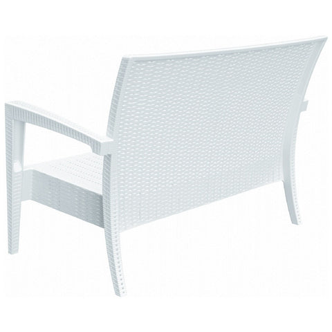 Compamia Miami Resin Loveseat White ISP845-WH - RestaurantFurniturePlus + Chairs, Tables and Outdoor - 3