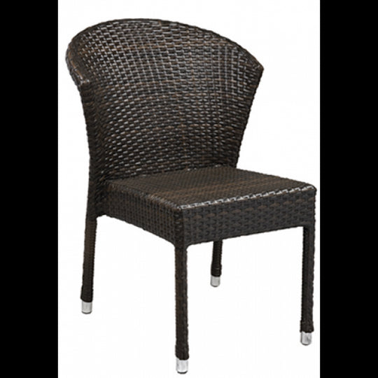 Amalfi Outdoor Espresso Synthetic Wicker Chair with Aluminim Frame