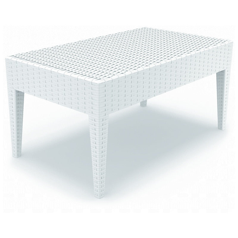 Compamia Miami Rectangle Resin Coffee Table White ISP855-WH - YourBarStoolStore + Chairs, Tables and Outdoor