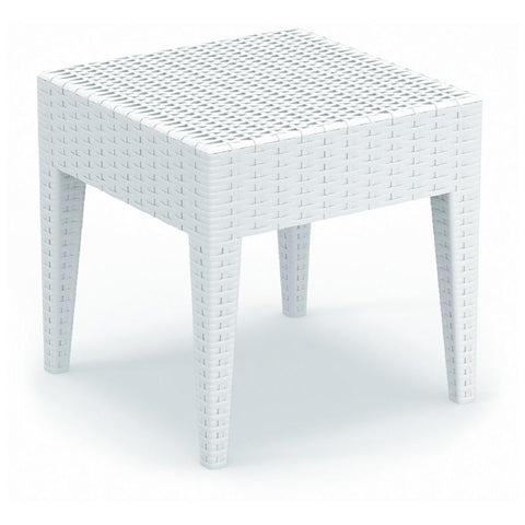 Compamia Miami Square Resin Side Table White ISP858-WH - RestaurantFurniturePlus + Chairs, Tables and Outdoor - 1