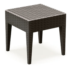 Compamia Miami Square Resin Side Table Brown ISP858-BR - RestaurantFurniturePlus + Chairs, Tables and Outdoor - 1