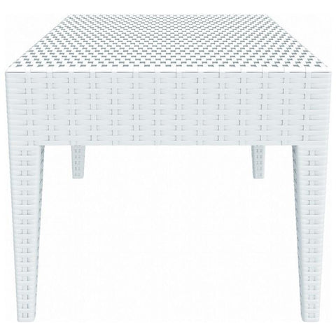 Compamia Miami Square Resin Side Table White ISP858-WH - RestaurantFurniturePlus + Chairs, Tables and Outdoor - 2