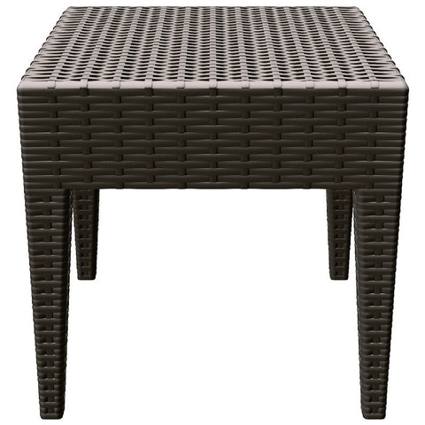 Compamia Miami Square Resin Side Table Brown ISP858-BR - YourBarStoolStore + Chairs, Tables and Outdoor  - 2