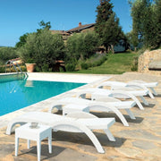 Compamia Miami Resin Wickerlook Chaise Lounge White ISP860-WH - RestaurantFurniturePlus + Chairs, Tables and Outdoor - 2