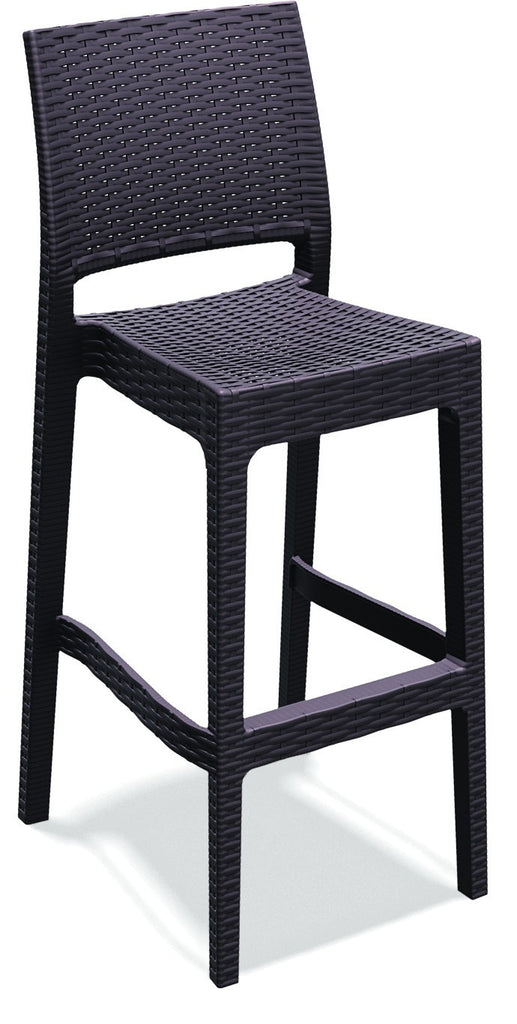 Compamia Jamaica Resin Wickerlook Barstool Brown ISP866-BR - RestaurantFurniturePlus + Chairs, Tables and Outdoor - 1