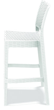 Compamia Jamaica Resin Wickerlook Barstool White ISP866-WH - RestaurantFurniturePlus + Chairs, Tables and Outdoor - 3