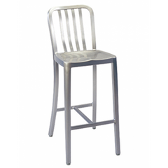 Brushed Aluminum Classic Outdoor Counter Stool