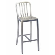 Brushed Aluminum Classic Outdoor Bar Stool