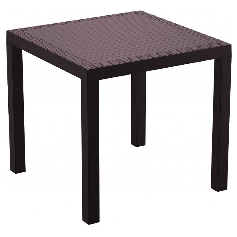 Compamia Orlando Resin Wickerlook Square Dining Table Brown 31 inch ISP875-BR - YourBarStoolStore + Chairs, Tables and Outdoor  - 1