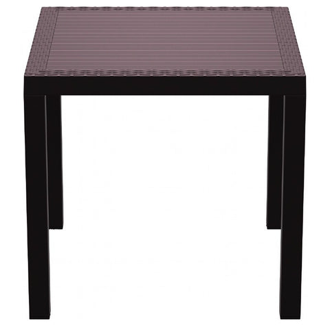 Compamia Orlando Resin Wickerlook Square Dining Table Brown 31 inch ISP875-BR - YourBarStoolStore + Chairs, Tables and Outdoor  - 2