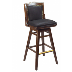 Schoolhouse Solid Wood Fully Upholstered Bar Stool