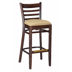 Ladderback Solid Wood Bar Stool