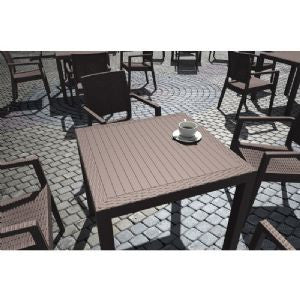 Compamia California Wickerlook Square Dining Set 5 Piece Brown  ISP8065S-BR - YourBarStoolStore + Chairs, Tables and Outdoor  - 1