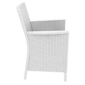 Compamia California  Wickerlook Casual Seating set 7 Piece White ISP8062S-WH - YourBarStoolStore + Chairs, Tables and Outdoor