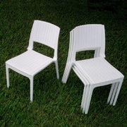 Compamia Miami Wickerlook Square Dining Set 5 Piece White with Side Chairs ISP992S-WH - YourBarStoolStore + Chairs, Tables and Outdoor - 3