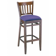 Vertical Solid Wood Bar Stool