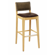 Madison Solid Wood Fully Upholstered Bar Stool