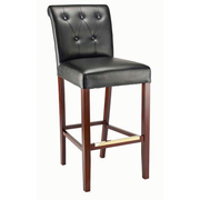 Luxe Solid Wood Bar Stool