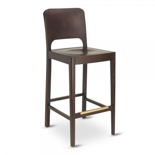 Milano Solid Wood Bar Stool in Walnut Finish