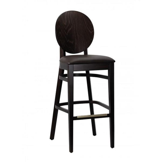 Belvedere Solid Wood Bar Stool in Walnut Finish