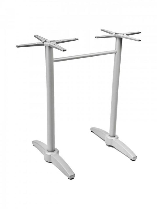 Aluminum With A Cast Weighted Bar Height Table Base