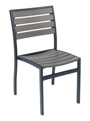 Powder Coated Aluminium Custom Color Side Chair