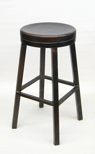 Copper Finish Aluminum Frame Swivel Seat Bar Stool