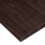 American Red Oak Solid Wood Butcher Block Table Top - Walnut Stain