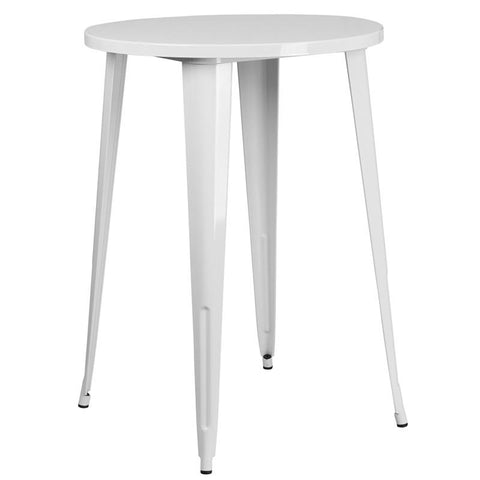 "30"" Round Metal Indoor-Outdoor Bar Height Table"