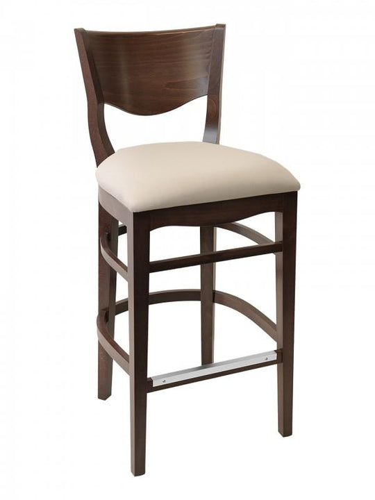 European Beech Wood Barstool