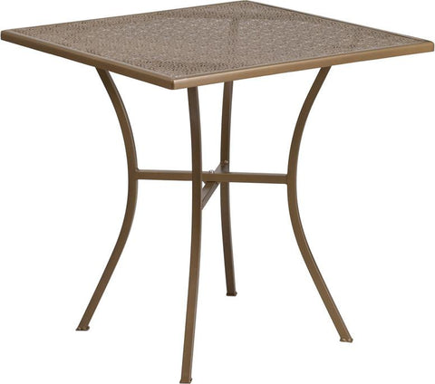 28'' Square Indoor-Outdoor Steel Patio Table