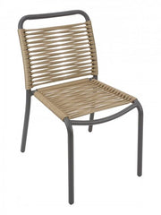 Cortina Outdoor Side Chair with Aluminum Frame