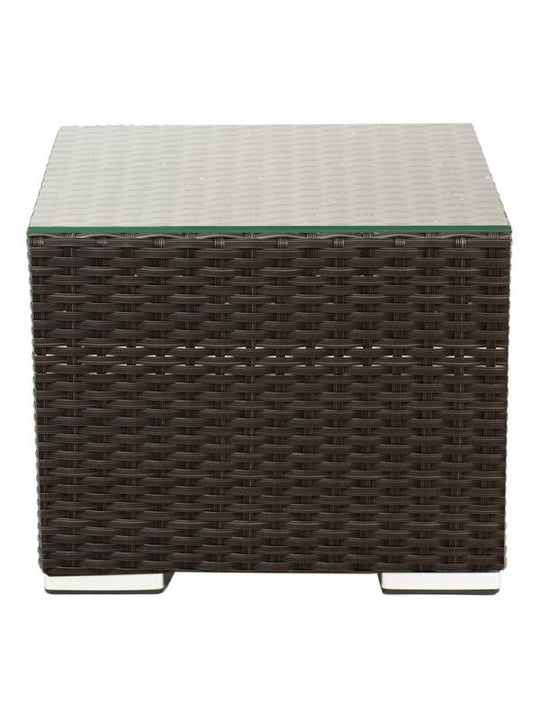 "19.5"" Crystal Beach End Table - Wicker Weave over Aluminum Frame"