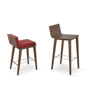 Soho Concept Corona Wood Bar Stools With Dallas Seat - YourBarStoolStore + Chairs, Tables and Outdoor - 11