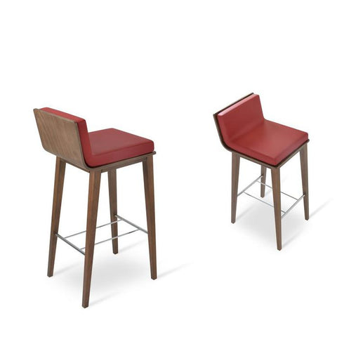 Soho Concept Corona Wood Bar Stools With Dallas Seat - YourBarStoolStore + Chairs, Tables and Outdoor - 13