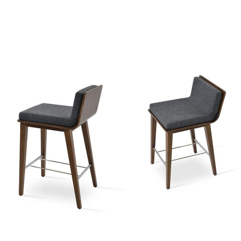Soho Concept Corona Wood Bar Stools With Dallas Seat - YourBarStoolStore + Chairs, Tables and Outdoor - 2