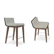 Soho Concept Corona Wood Bar Stools With Dallas Seat - YourBarStoolStore + Chairs, Tables and Outdoor - 3