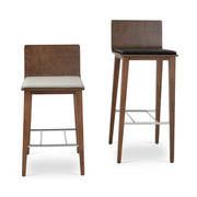 Soho Concept Corona Wood Bar Stools With Dallas Seat - YourBarStoolStore + Chairs, Tables and Outdoor - 4