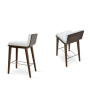 Soho Concept Corona Wood Bar Stools With Dallas Seat - YourBarStoolStore + Chairs, Tables and Outdoor - 5