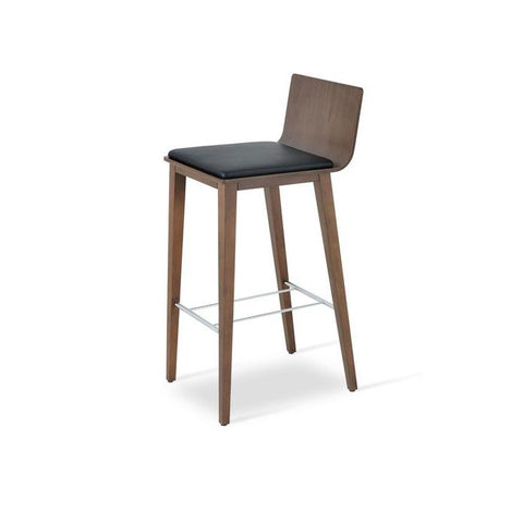 Soho Concept Corona Wood Bar Stools With Dallas Seat - YourBarStoolStore + Chairs, Tables and Outdoor - 6