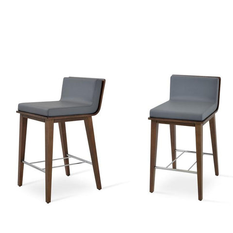 Soho Concept Corona Wood Bar Stools With Dallas Seat - YourBarStoolStore + Chairs, Tables and Outdoor - 7